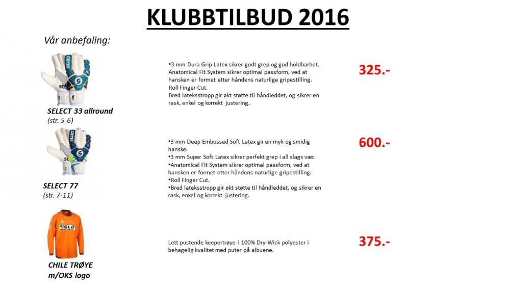 Klubbkolleksjon 2016
